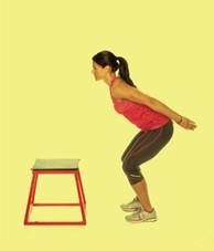 2 cách luyện tập chân khỏe để chơi tennis: Nhảy bục 3