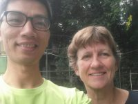 Tennis class for Denmark student in Hanoi - Benedikte from Denmark