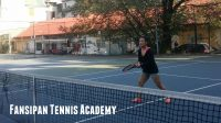 Tennis lesson for Malaysian student in Hanoi - Joanne